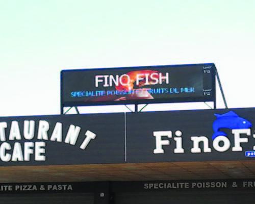 restaurant led ecran pub