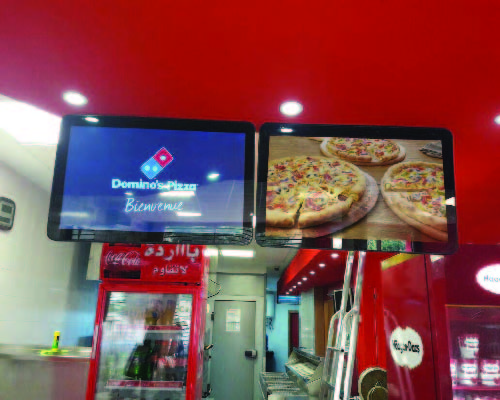 Dominos pizza ecran lcd