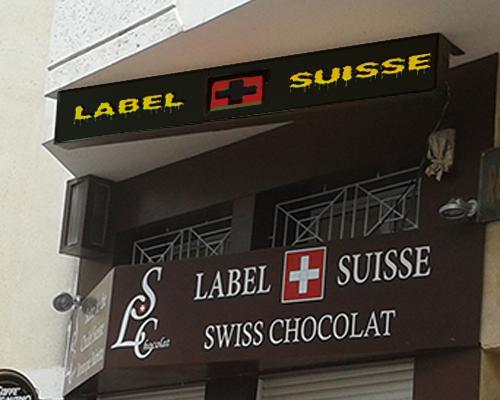 ecran led chocolat maroc suisse