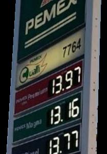 Station gaz Led vert blanc