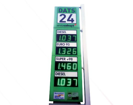 Prix carburant 25 cm luxio display for Afficheur numerique exterieur